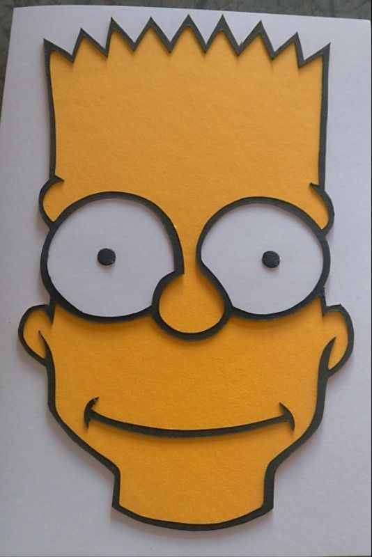 Bart Simpson Birthday Card The Simpsons Pinterest Bart Simpson