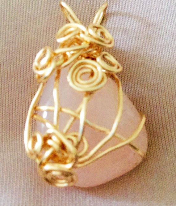 Hand crafted wire wrapped pendant gemstones by TROPICALNecklaces
