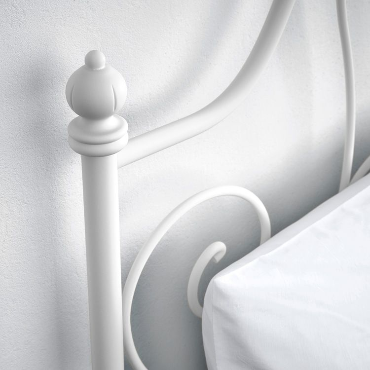 Kovova Postel Leavrik 140x200 Cm Postele Z Masivu Manzelske Detske Kovove Postele A Matrace Ikea Bed Leirvik Bed Bedroom Furniture Beds