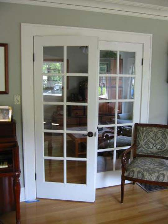Interior And Exterior Solid Wood Double French Door Units Custom