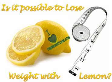lose fat with help of lemon