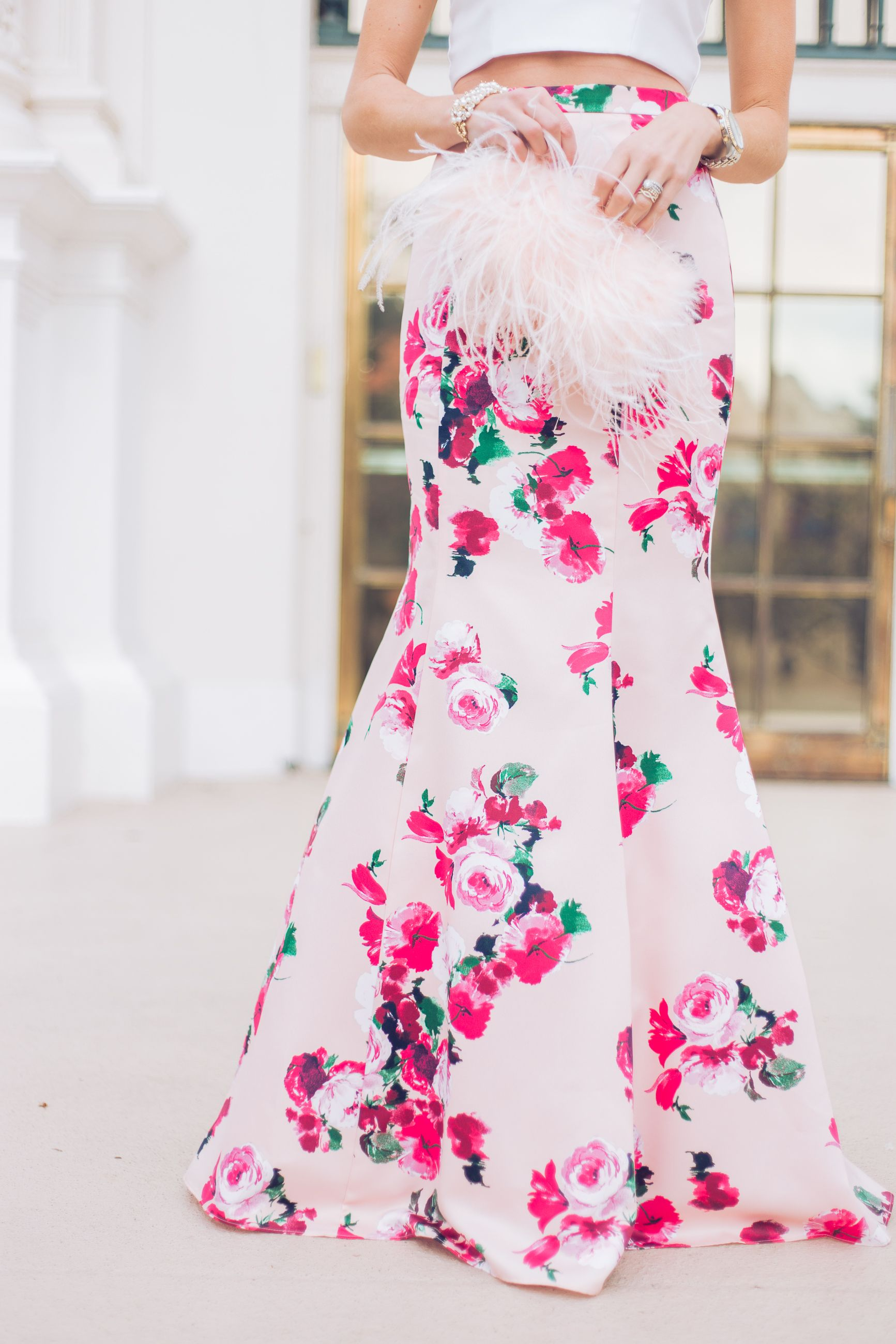eac5f79caa18 Floral two piece gown - Mckenna Bleu | Blogger Love in 2019 | Two ...