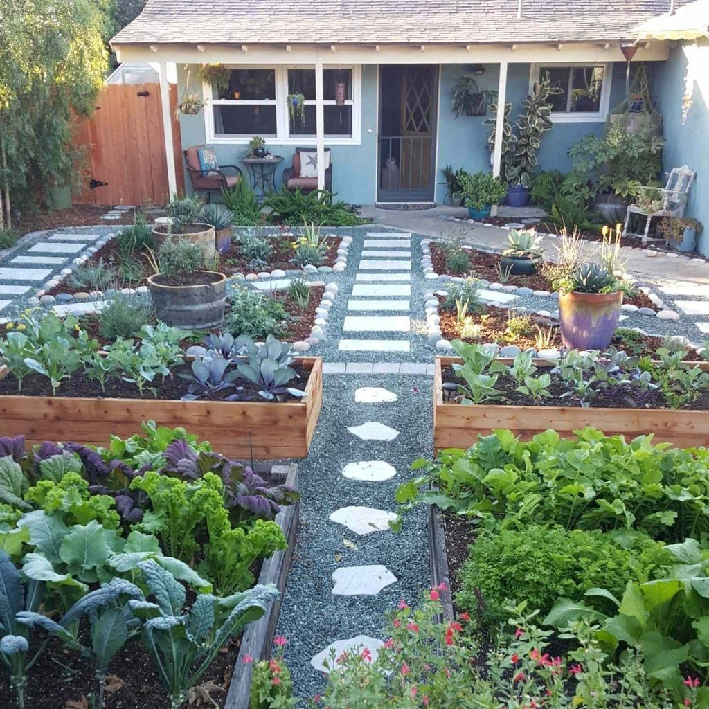 41 Perfect Bed Garden Design For Your Front Yard