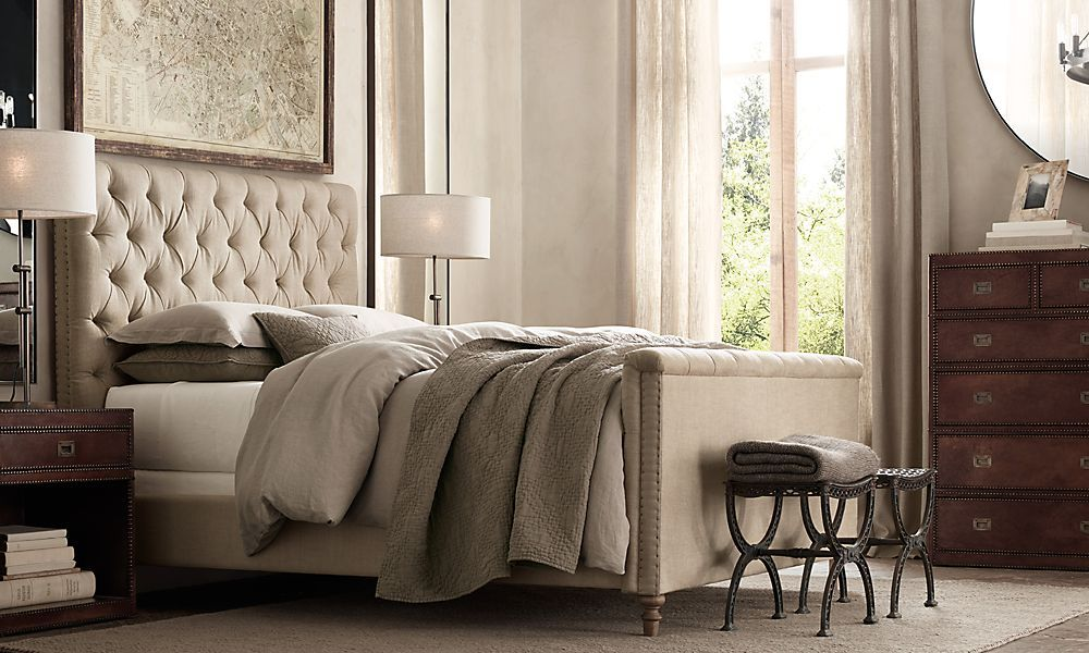 Tufted headboard restoration hardware master - Restoration hardware bedroom furniture ...