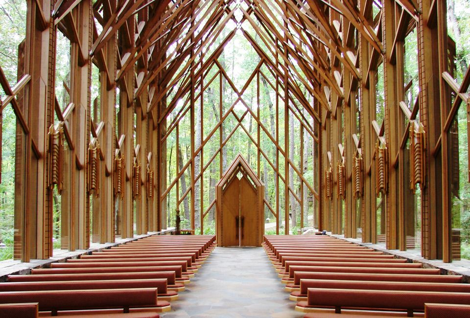Anthony Chapel Chapel In The Woods Hot Springs Arkansas Glass Chapel