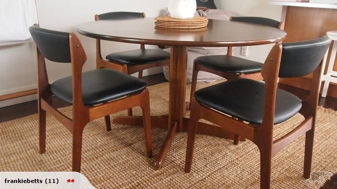 Otto Larsen Mid Century Dining Table 4 Chairs Trade Me 800