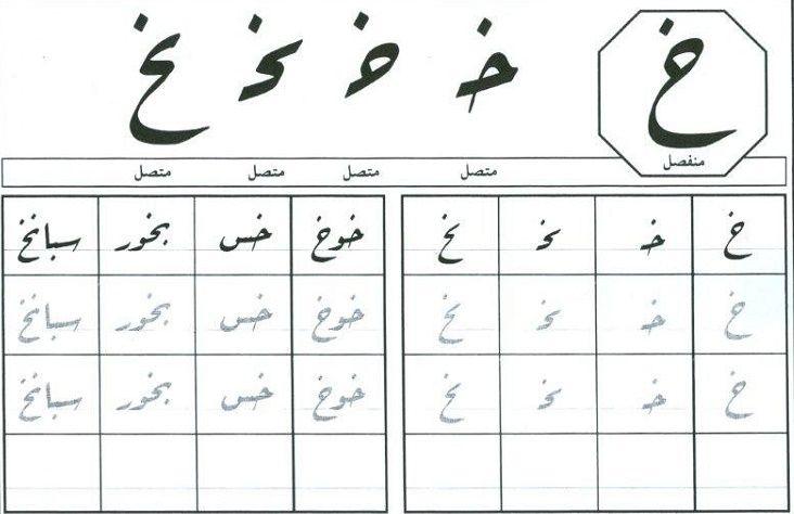 خ حرف الخاء بجميع اشكاله حروف اللغة العربية Word Search Puzzle Words