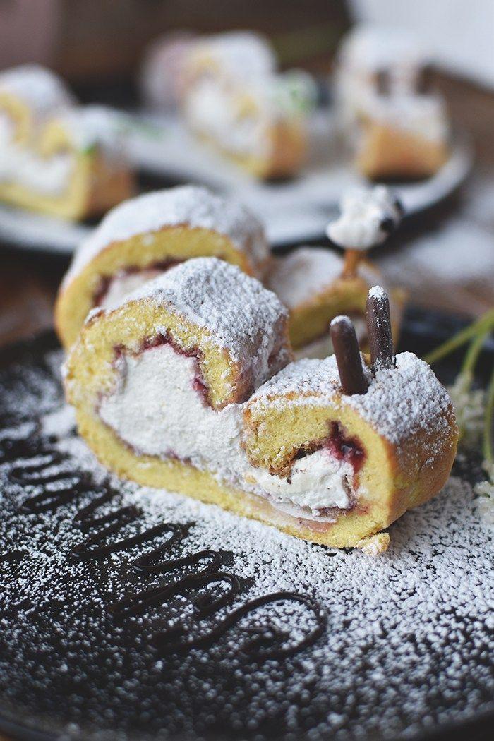 Biskuit Zitronen Schnecken Nimm Es Slappna Rezept Kuchenspezialitaten Biskuit Und Lebensmittel Essen