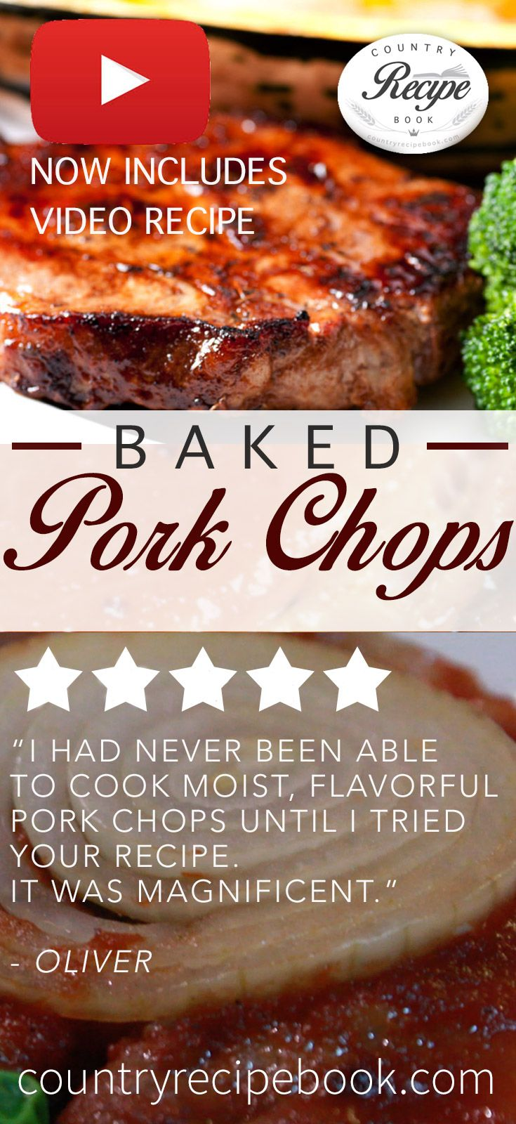 Country Style Baked Pork Chops Make Epic, Moist
