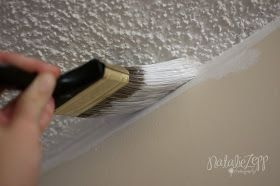 Queen Of Whirled: How to Paint a Popcorn Ceiling | Popcorn ...