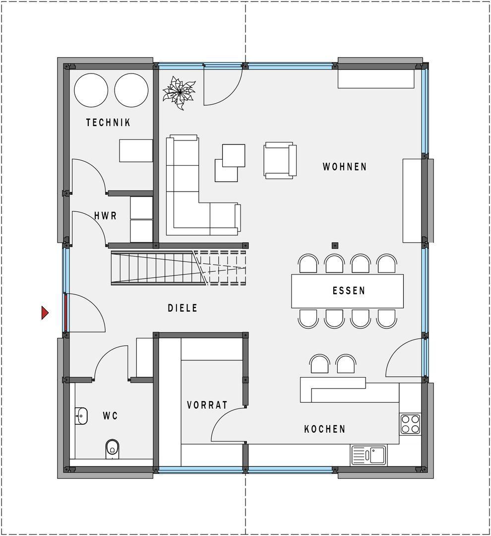 Fertighaus grundrisse doppelhaus  Fertighaus aus Holz - Effizienzhaus 55 - HUF Haus modum: - HUF ...