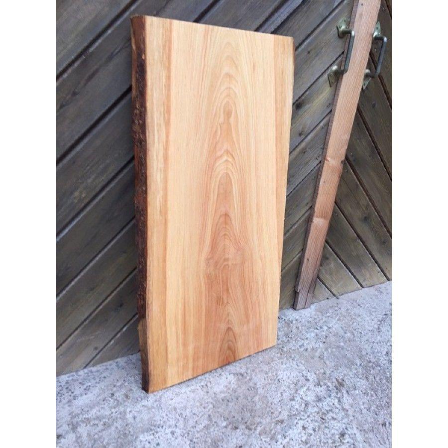 Tischplatte Waschtisch Larche Unbesaumt Gerade Ein Stuck Baumkante Rustikal 100x45 50x4cm Massivholz Tischplatte Tischplatten Eiche Rustikal