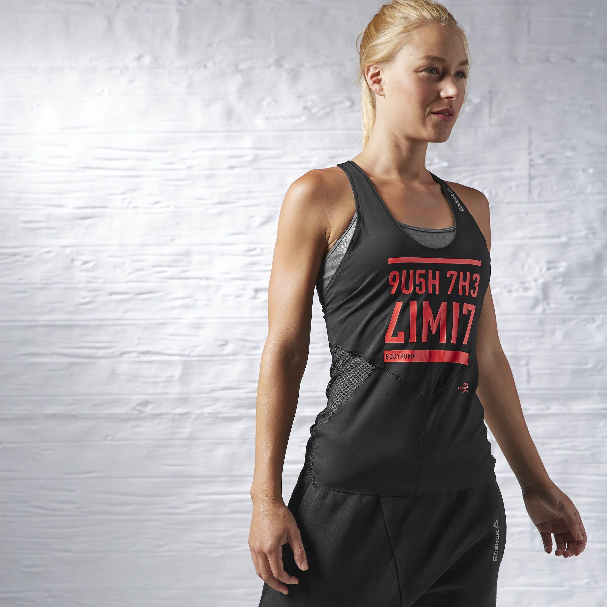 REEBOK LES MILLS BODYPUMP™ Top Tank With Built In Bra Women/'s Training Vest