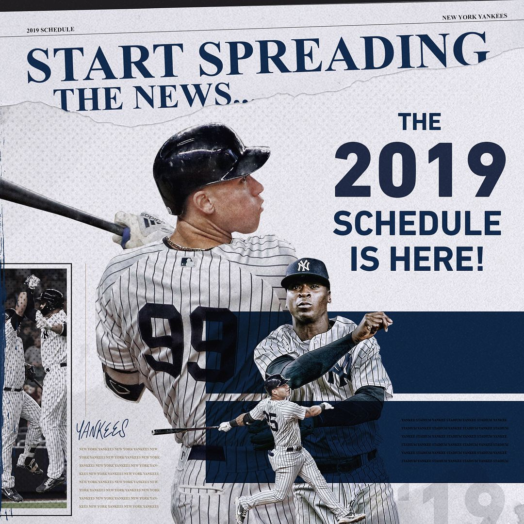 Check It The 2019 Schedule Is Here New York Yankees Yankees Memes