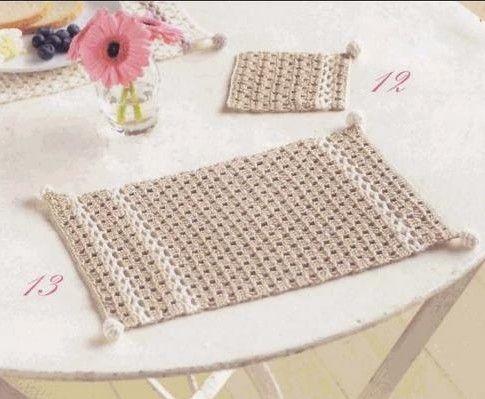 set de table pastel h kovan v ci ky pinterest le crochet set de table et crochet. Black Bedroom Furniture Sets. Home Design Ideas