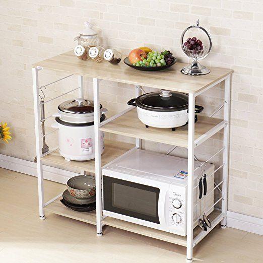 Dland Kitchen Utility 35 4 Microwave Cart Stand Storage 3 Tier 3