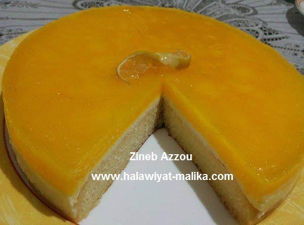كيك بارد راائع بعصير البرتقال والليمون Desserts Food Pudding