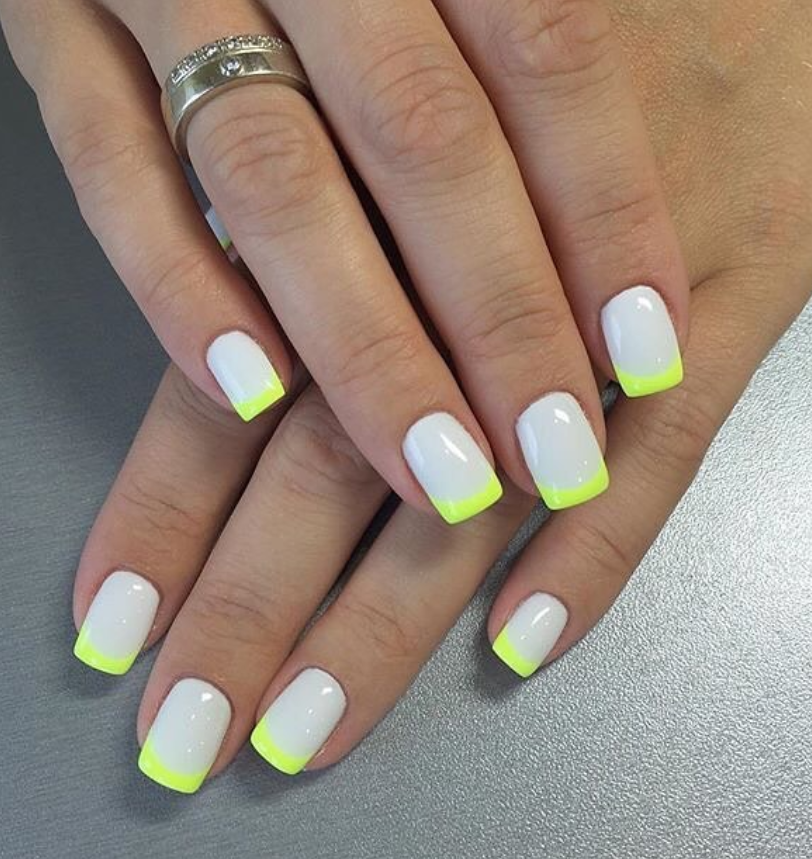 128 Spring Light Color Square Acrylic Nails Designs