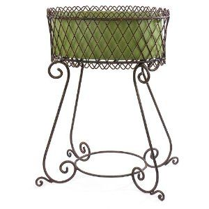 34 Wrought Iron Plant Stand With Scrolling Legs Wrought Iron