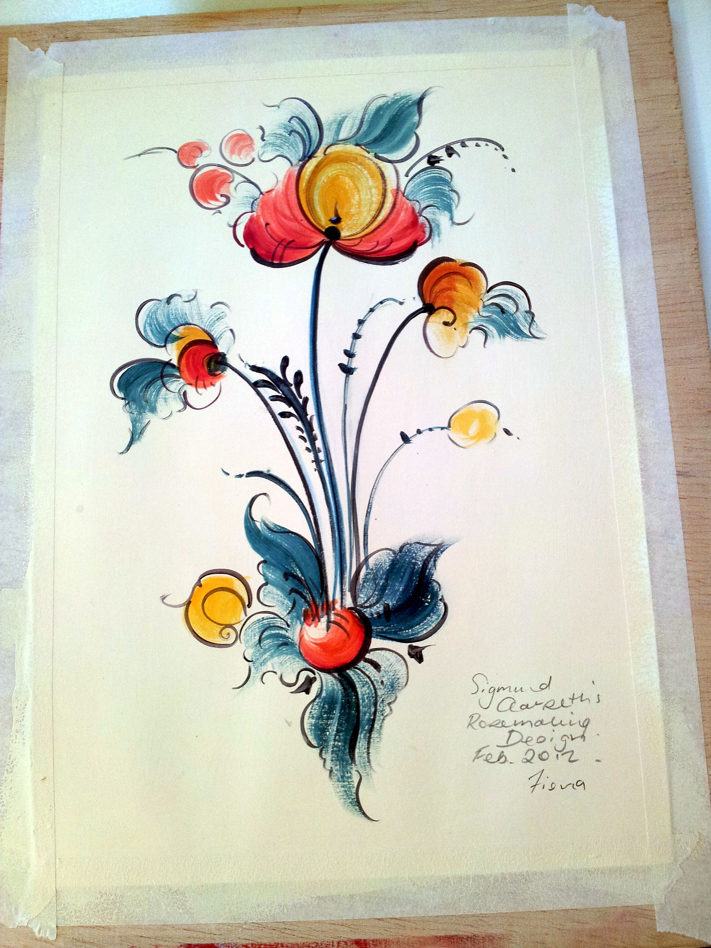 Detail -folk Art Decorative Painting Tole