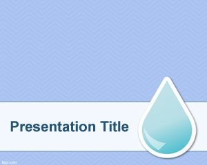 Natural resources powerpoint templates blue powerpoint templates free natural resource background template design for powerpoint with a water drop over a clean blue background toneelgroepblik Image collections