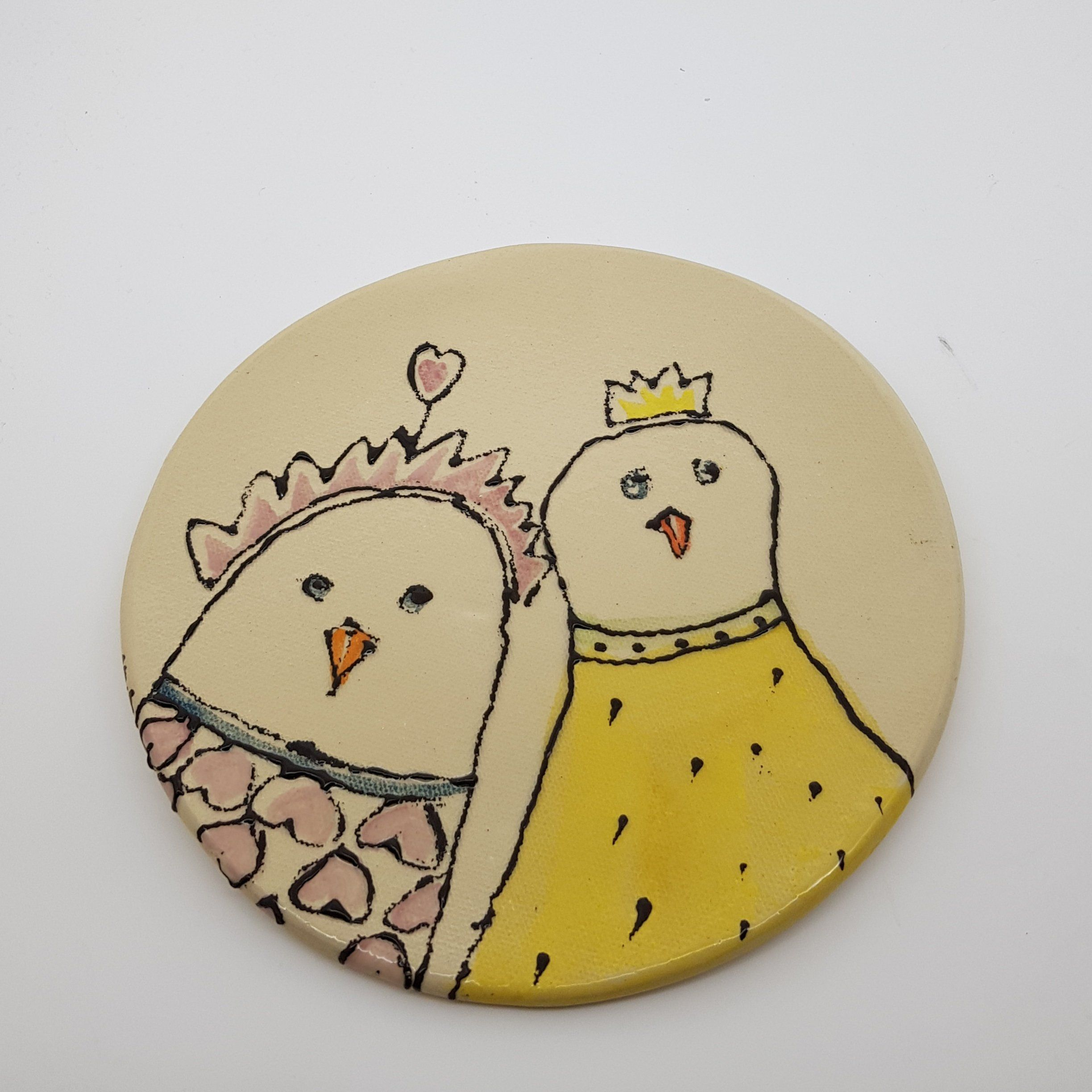 Ceramic Plate With Magical Hen, Wall Plate, Plates Design   Plate ...