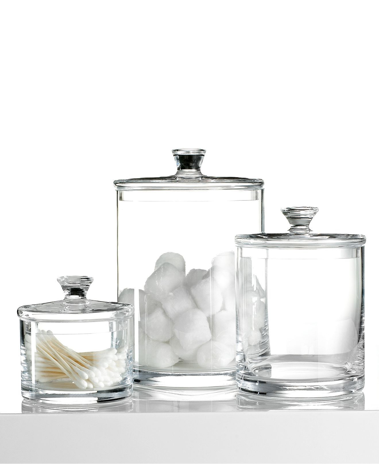 Hotel Collection Bath Accessories Glass Jar Collection Bathroom