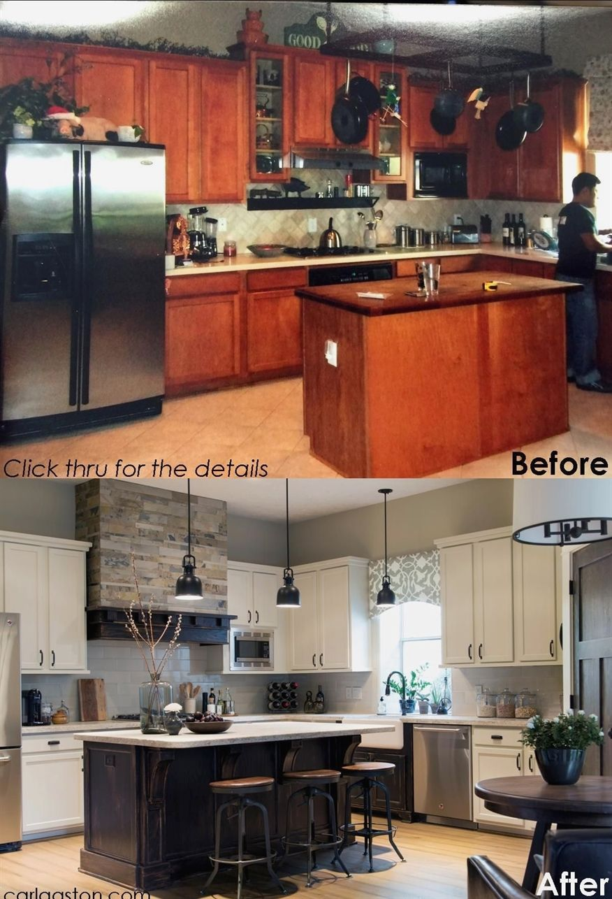 a Coffee House Ambience - Kitchen remodel small, Home kitchens, Kitchen remodeling projects, Kitchen renovation, Home remodeling, Kitchen design - Today I'm going to share some cool before and afters of one of my projects  For me, these pics were a long time coming