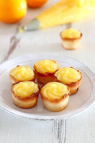Lemon Curd Bites - Experimenting With Meyer Lemons