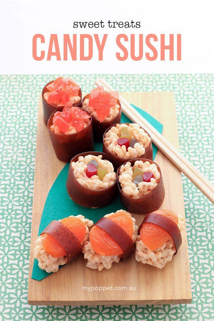 Puffed Rice Candy Sushi #candysushi