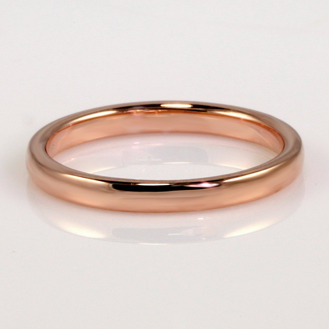 Mark Patterson 18K Rose Gold 2.3MM Rounded Wedding Band