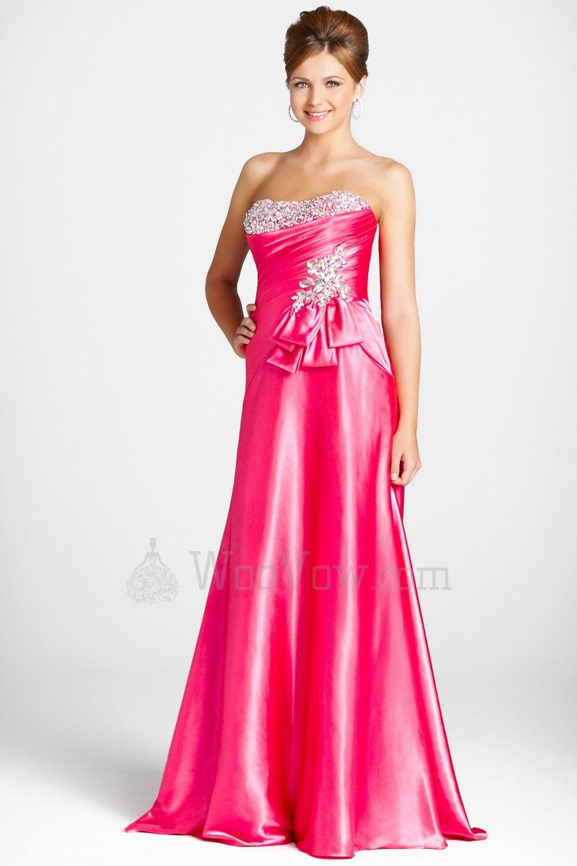 Charmeuse softly curved neckline floorlength prom dress wv