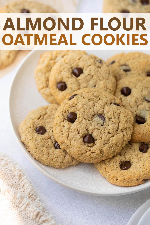 Almond flour oatmeal cookies recipe in 2020 almond