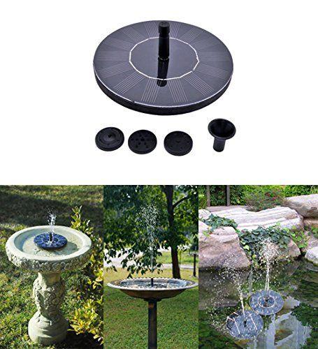 Amazon com : Cute Solar Powered Bird bath Fountain Pump, Free