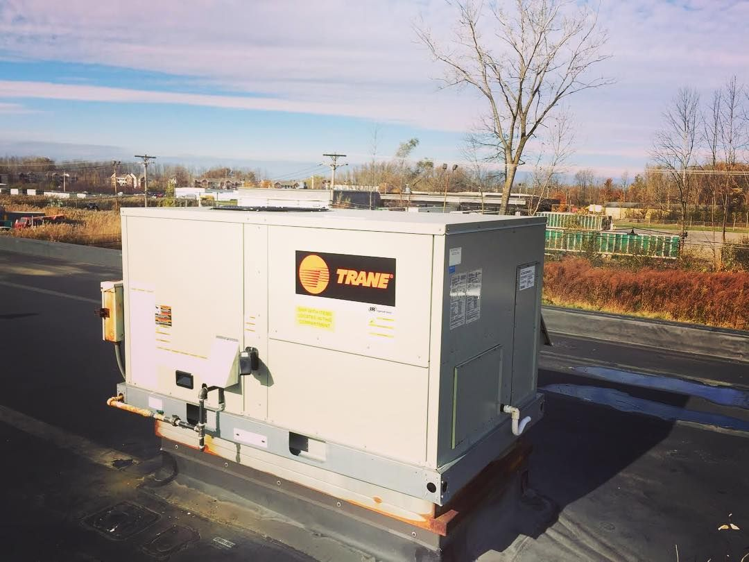 We Recently Replaced A Rooftop Carrier Unit With A 5 Ton Trane