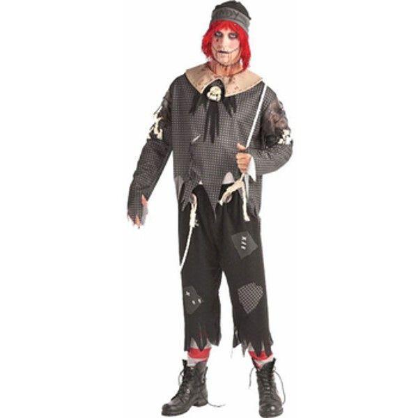 Adult Gothic Rag Doll Boy Costume Horror halloween costumes - cool halloween costume ideas for guys