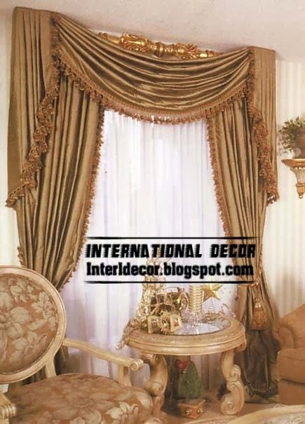 Luxury Silk Curtain Drapes Design For Living Room 2015 (435×604)