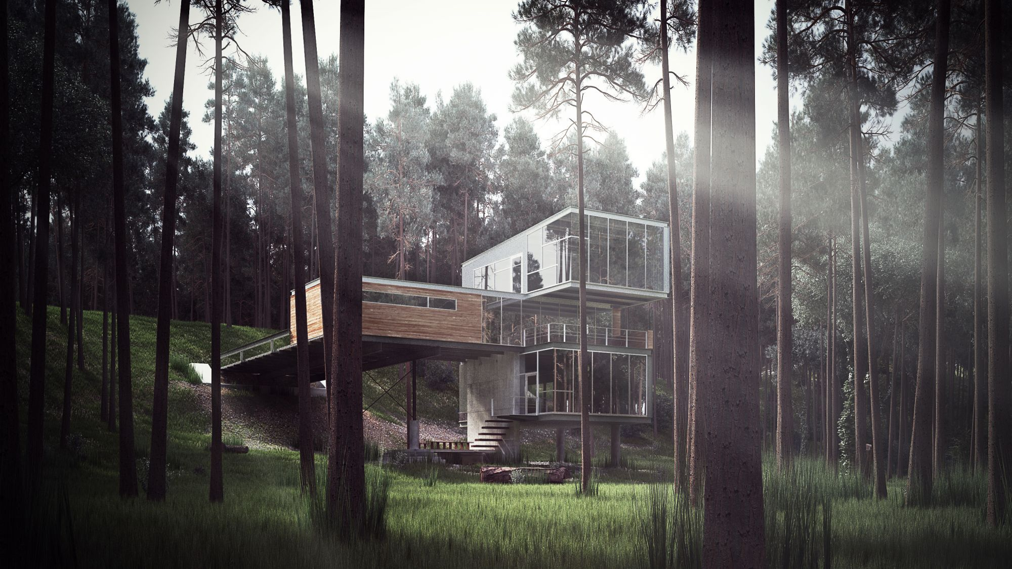 Cgarchitect professional 3d architectural visualization user community 3d visualisation of a modern cabin