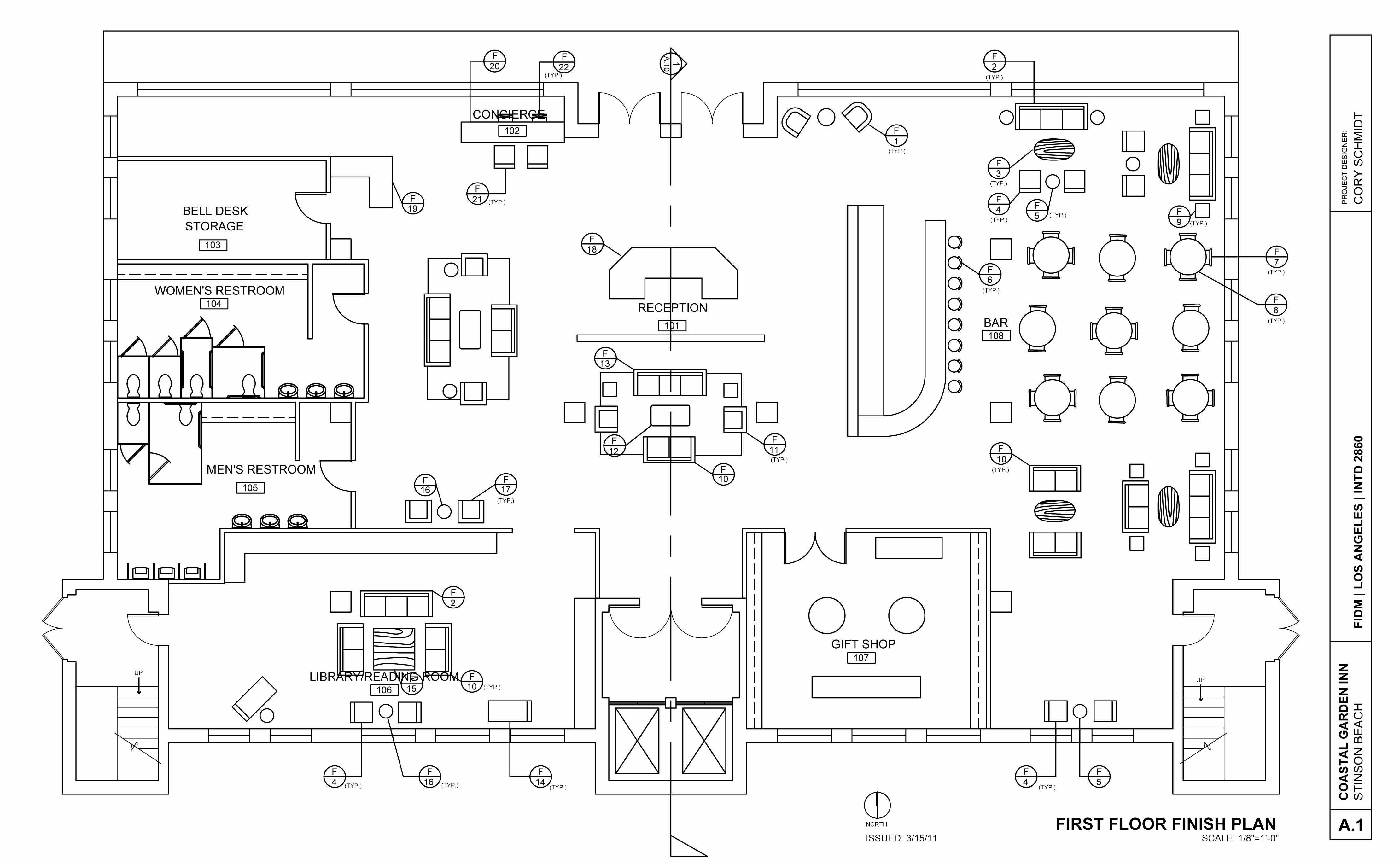 Hotel Design Development Drawings Autocad