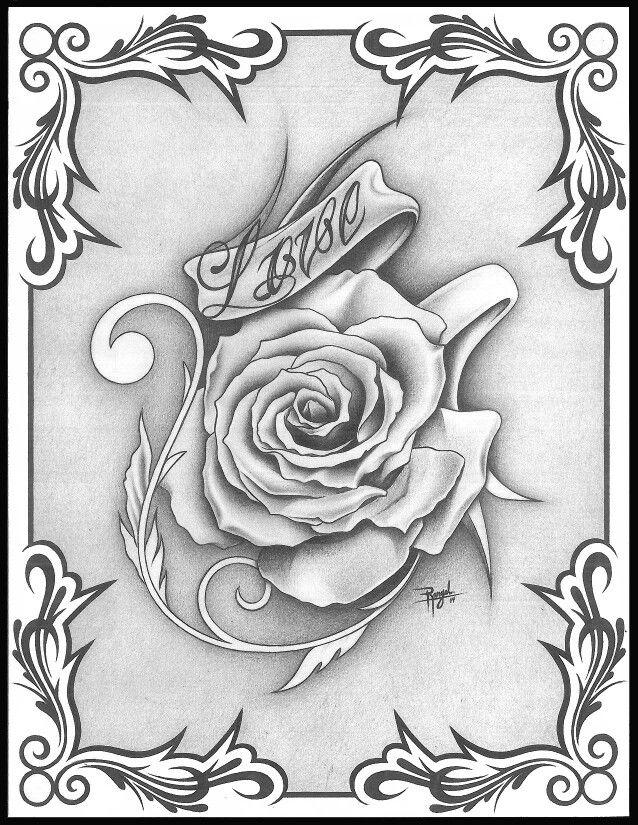 Rosa Mas Bella Roses Drawing Skull Coloring Pages Flower Drawing