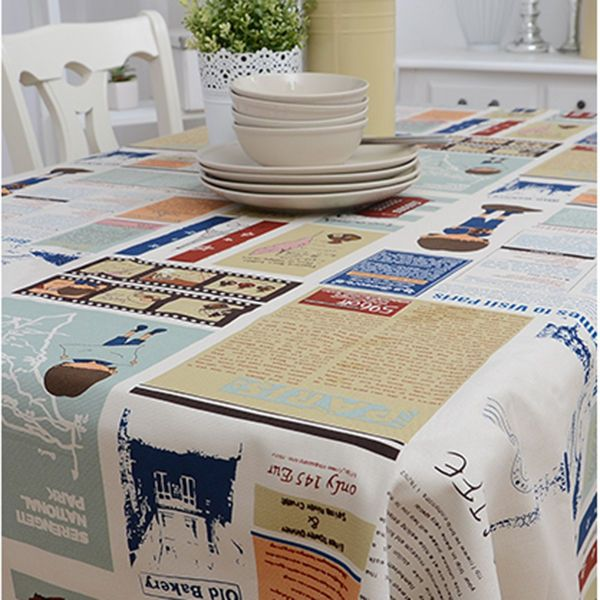 Casual Colorful Fabric Tablecloth Table Cover Cloths Craft Fabric Table linen #Unbranded