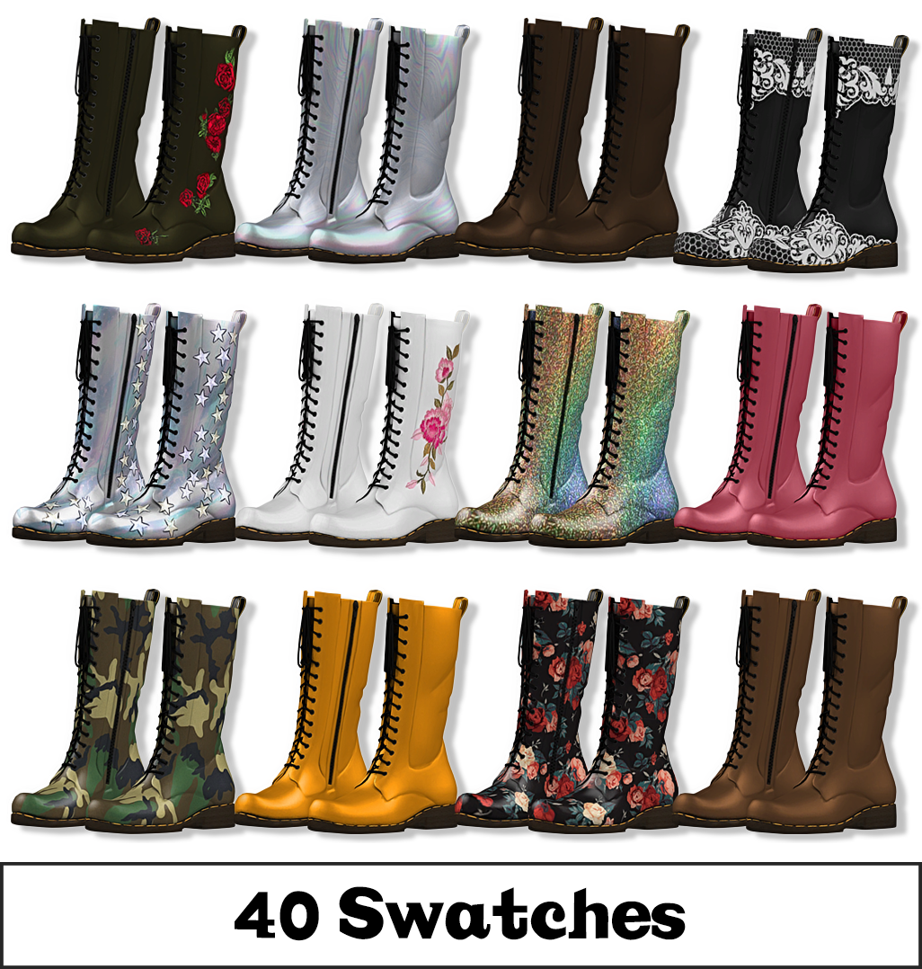 My Sims 3 Blog: Converse Knee High Boots by HL7402 | Sims 3