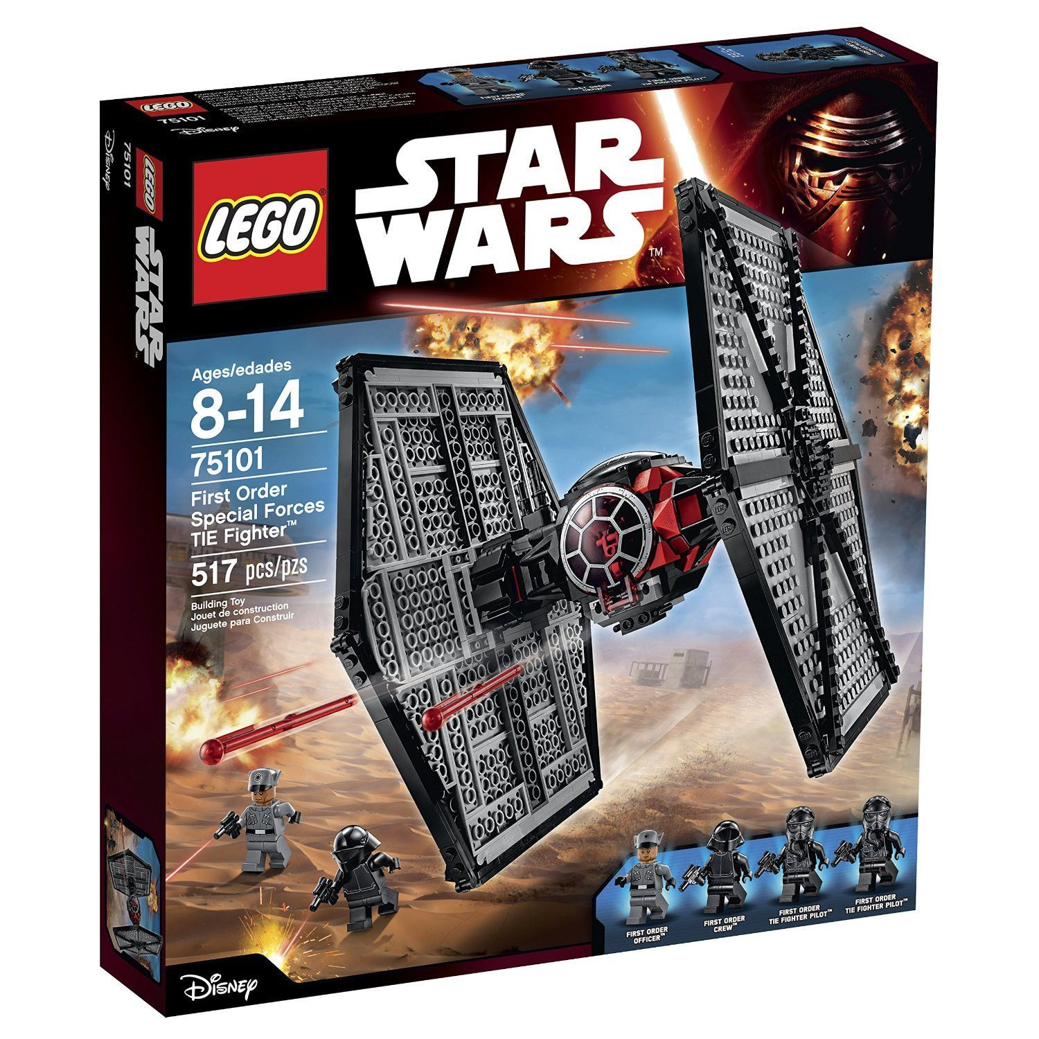 Lego Star Wars First Order Special Forces Tie Fighter Lego Star Wars Sets Tie Fighter Star Wars Toys