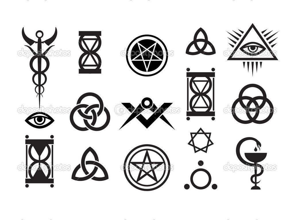 sorcery and magic symbols mystique symbols set vi stock vector photon 4756203 black. Black Bedroom Furniture Sets. Home Design Ideas