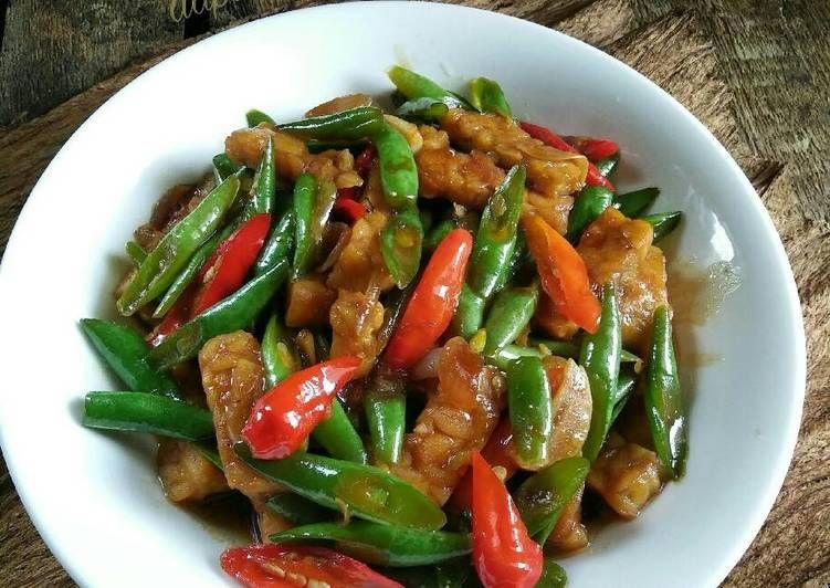 Resep Oseng Buncis Tempe Pr Recookmantenelise Oleh Dapurvy Resep Masakan Simpel Resep Masakan Indonesia Makanan