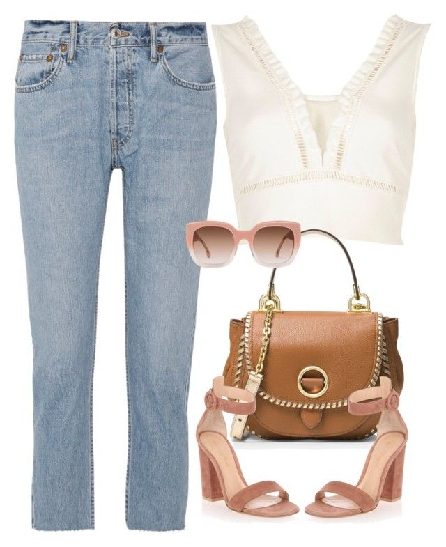 """Untitled #394"" by moniquitabl on Polyvore featuring River Island, MICHAEL Michael Kors, RE/DONE, Gianvito Rossi and Alice + Olivia"