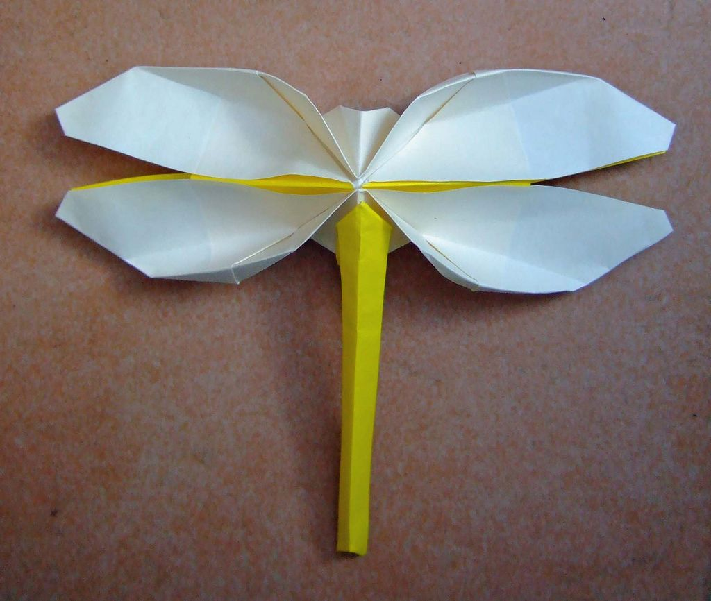 Origami dragonfly origami dragonflies and origami ideas origami dragonfly origami dragonfly stylized one uncut flickr jeuxipadfo Image collections