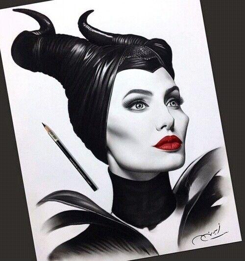 Malefic Draw Dibujos Realistas Dibujos De Malefica Dibujos