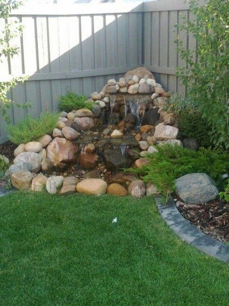 44 Beauty Small Backyard Waterfall Design Ideas Small Backyard