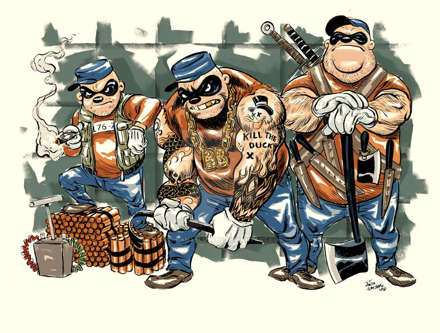 The Real Beagle Boys by Joao Carlos Vieira by ashcanallstars.